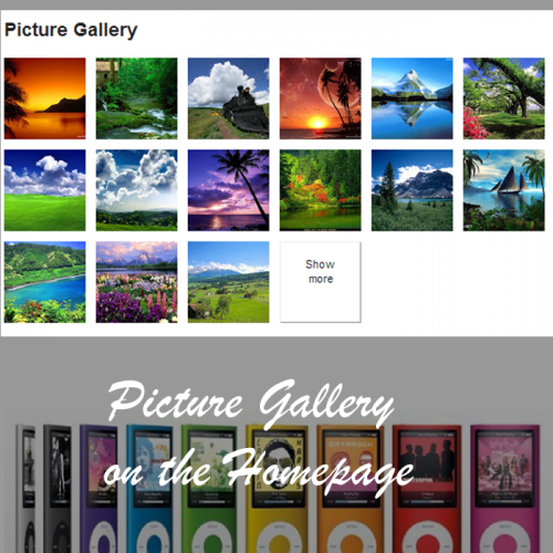 Prestashop Homepage Responsive Picture Collage