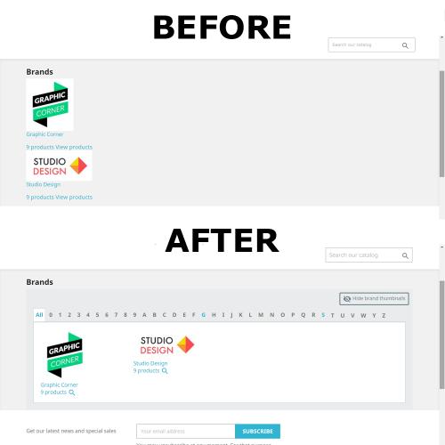 Custom Brands Page Module...