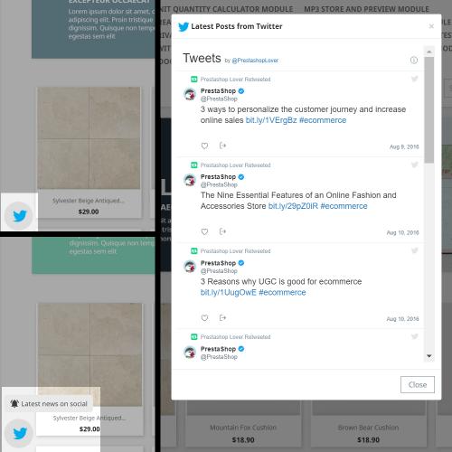 Twitter Timeline Module
